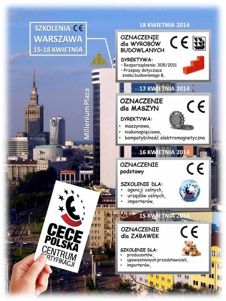 Szkolenia znak CE Warszawa IV 2014